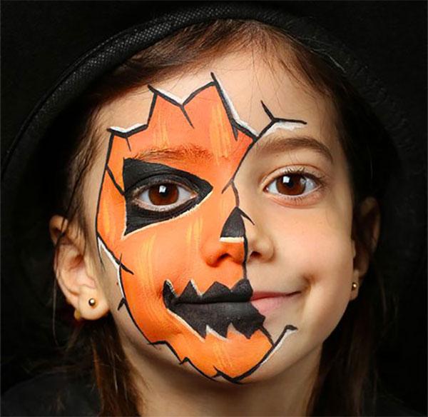 Trucco da zucca per Halloween 4
