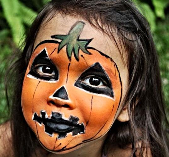 Trucco da zucca per Halloween 5