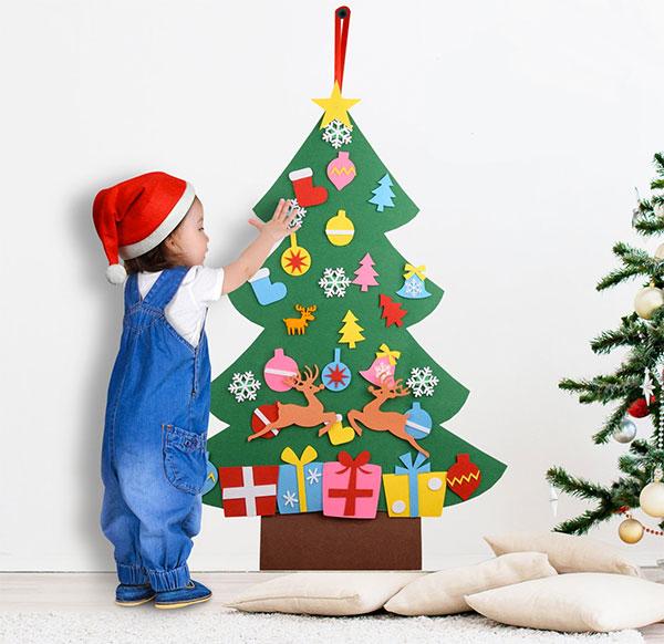 Immagine dell'alberello di Natale in feltro n.29