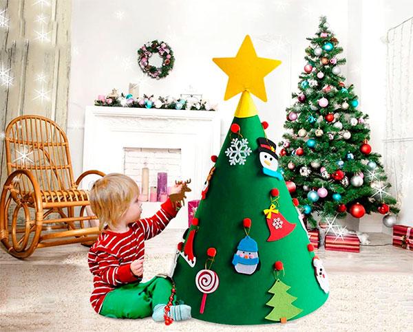 Immagine dell'alberello di Natale in feltro n.30