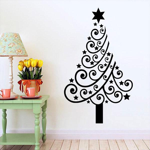 Albero di Natale murale adesivo