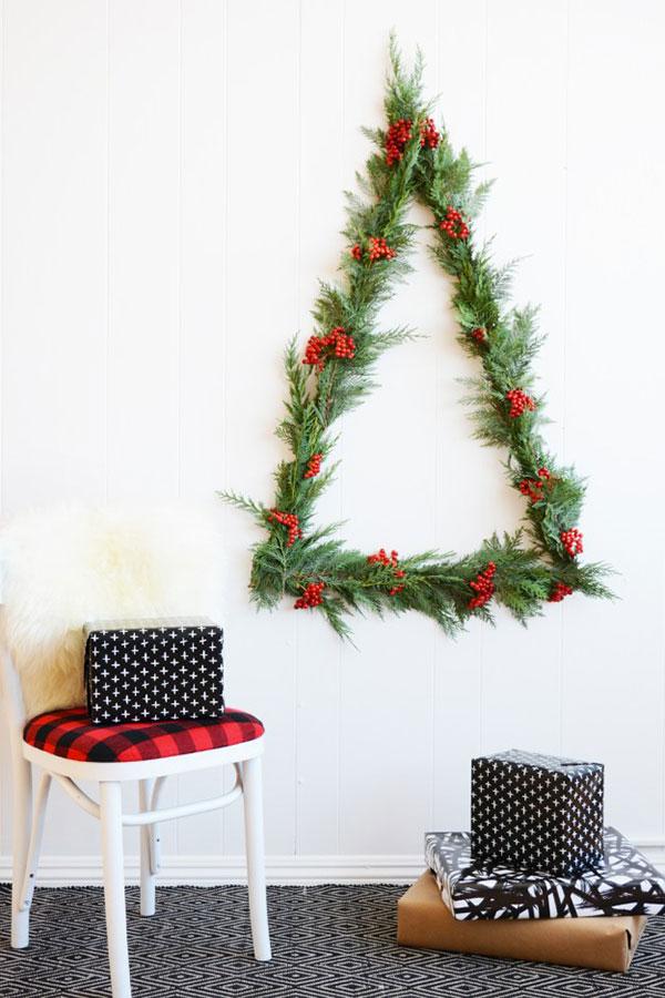 Albero di Natale murale a triangolo