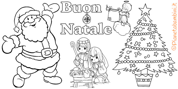 450 Disegni Di Natale Da Colorare Pianetabambini It