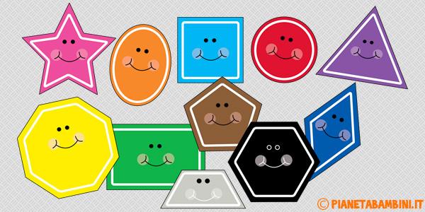 Carte tematiche con caratteristiche delle figure geometriche piane per la scuola primaria