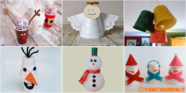 Tante idee per lavoretti di Natale con bicchieri di plastica o carta