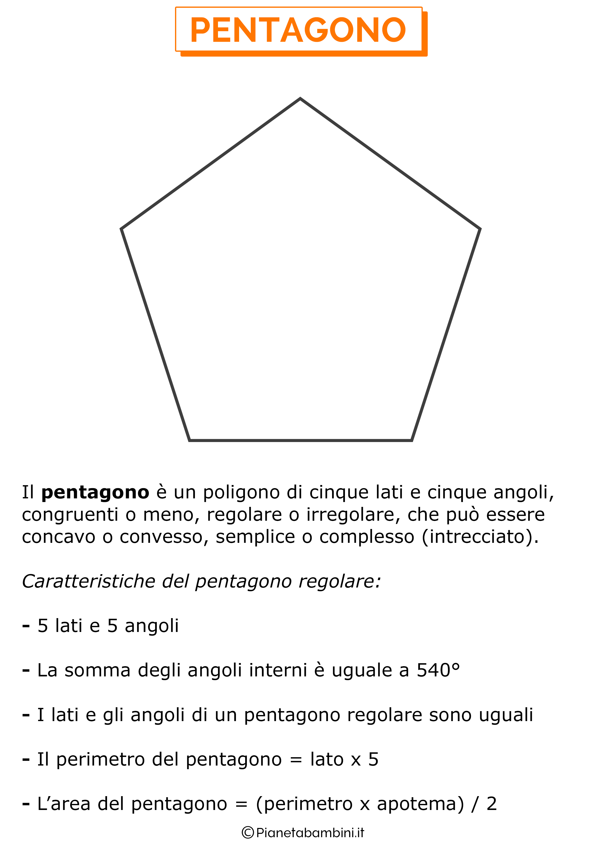 Caratteristiche del pentagono
