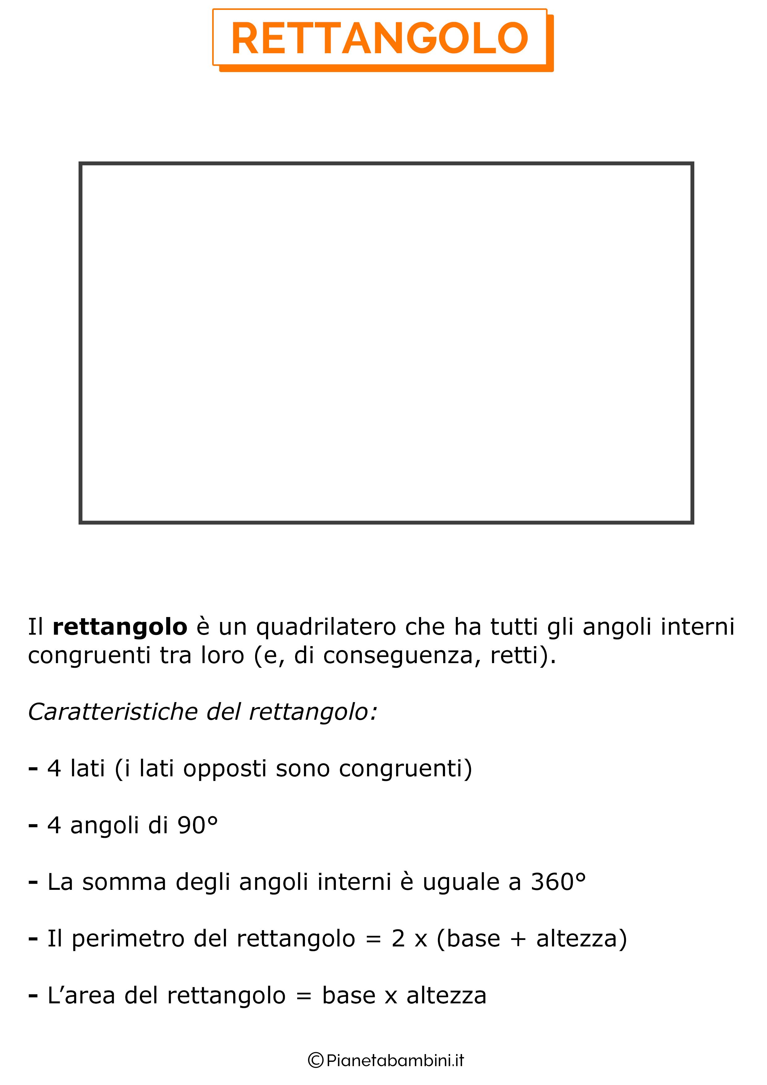 Caratteristiche del rettangolo