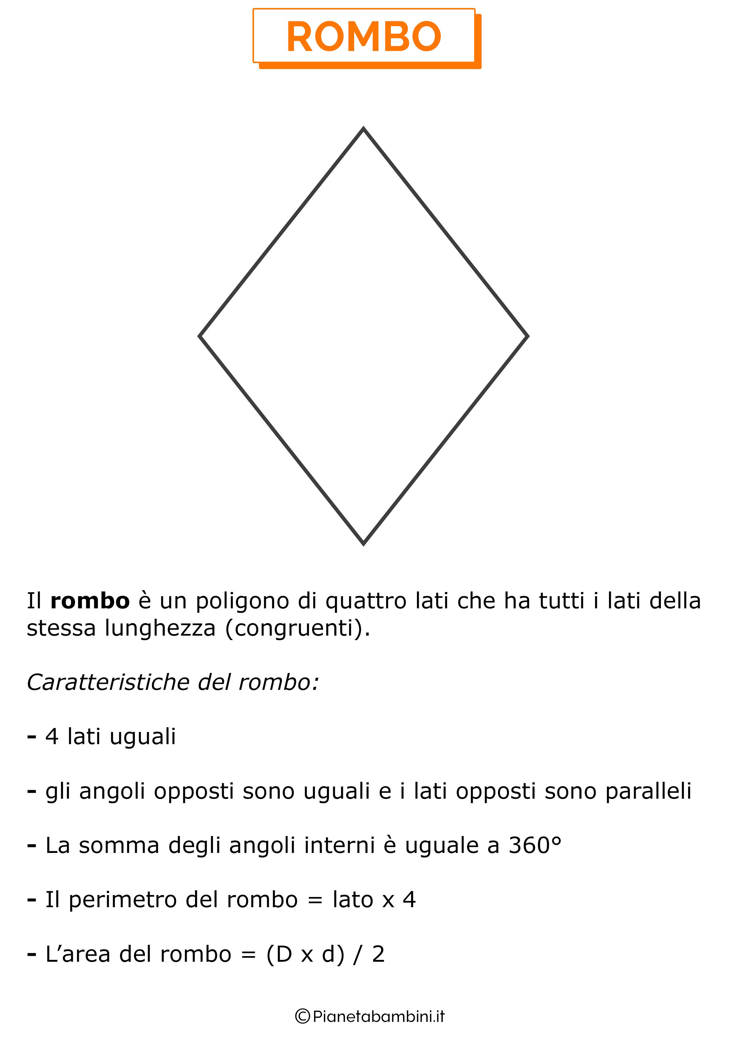 Caratteristiche del rombo
