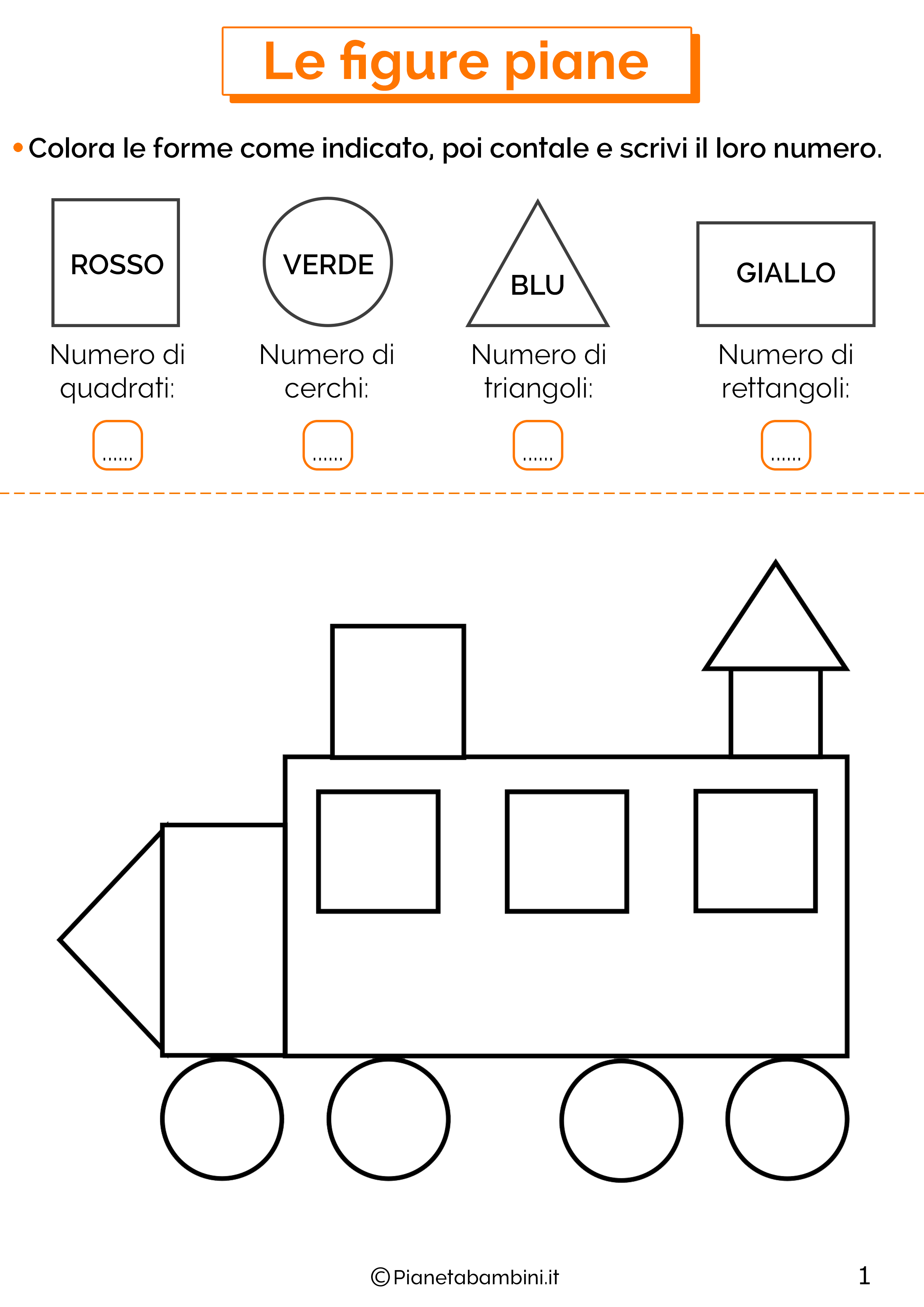 Scheda didattica sulle figure piane 1