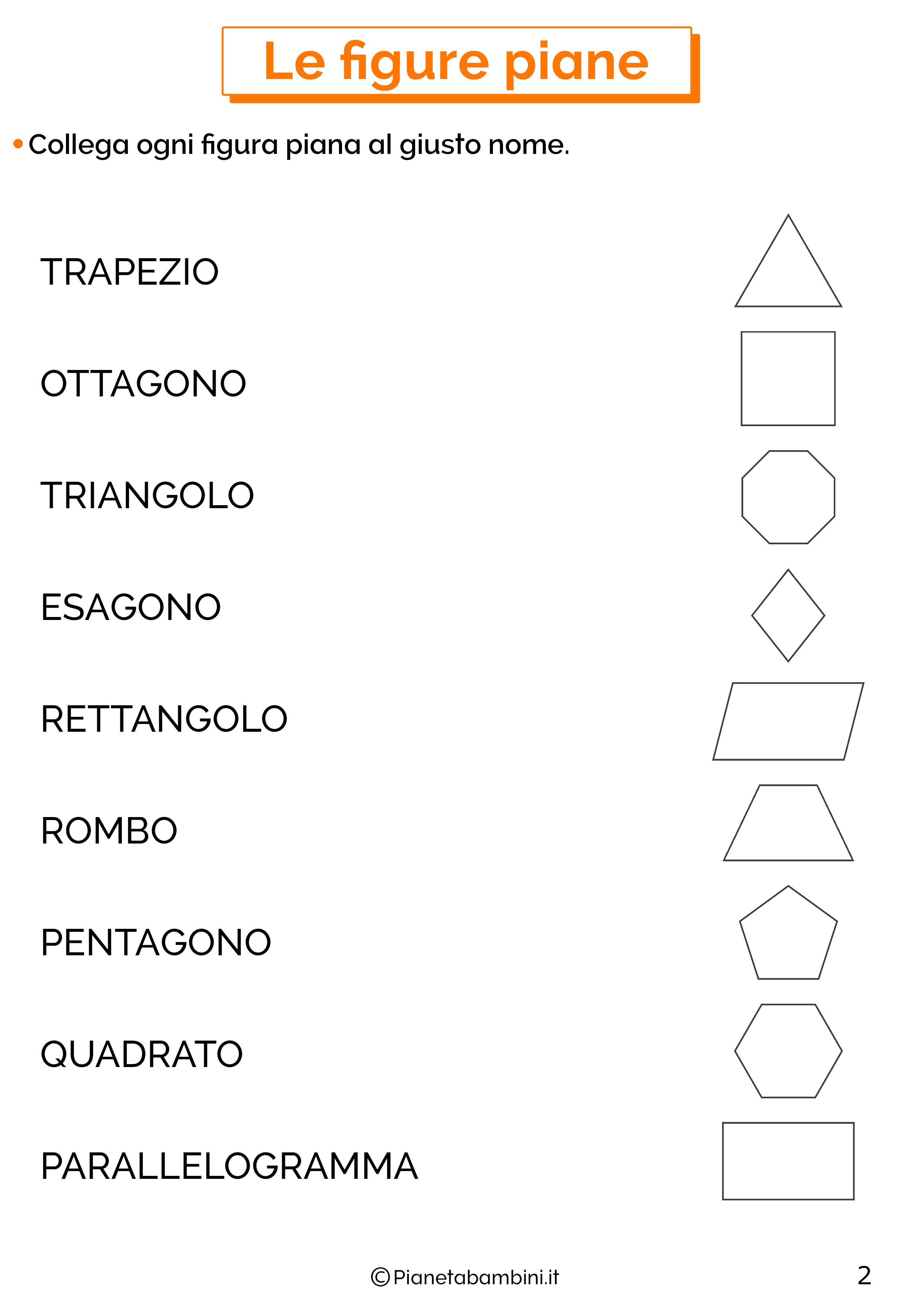 Scheda didattica sulle figure piane 2