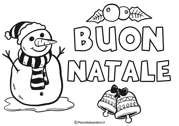 Scritta di Buon Natale da stampare e colorare n.2