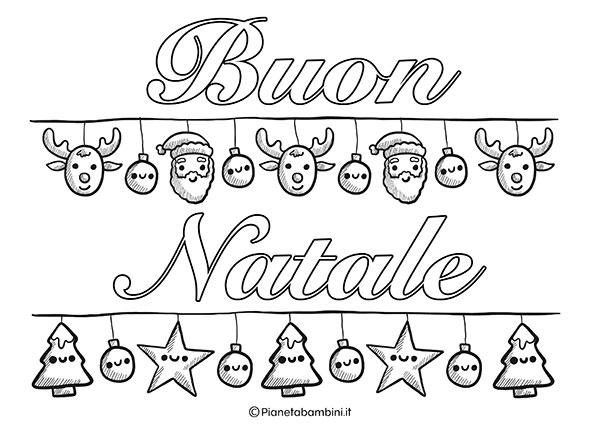 Scritta di Buon Natale da stampare e colorare n.3