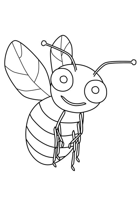 30 disegni di api da colorare