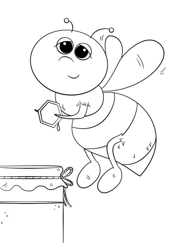Disegno di ape 03