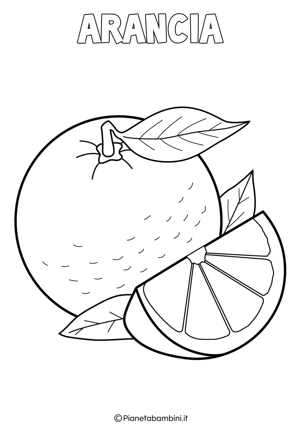 Disegno di arancia da colorare