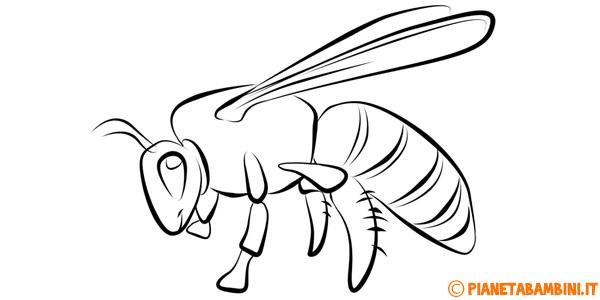 Disegni di api da stampare e colorare