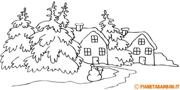 21 disegni di paesaggi invernali da colorare for Disegni da colorare per adulti paesaggi