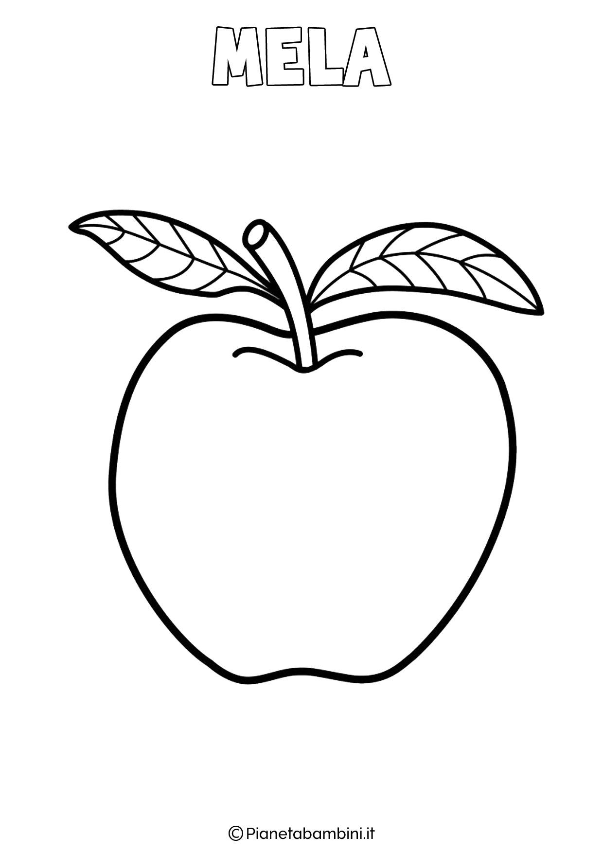 Disegno di mela da colorare
