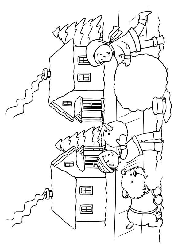 Disegno di paesaggio invernale da colorare n.07