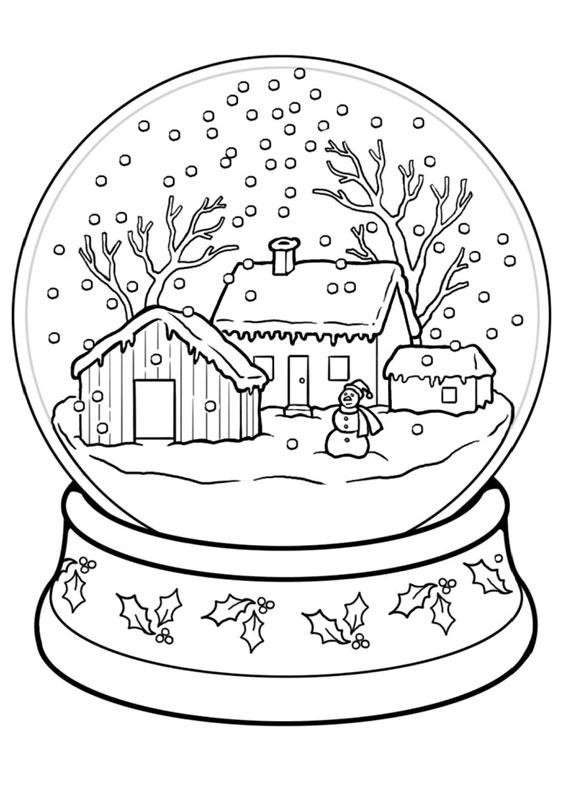 Disegno di paesaggio invernale da colorare n.13
