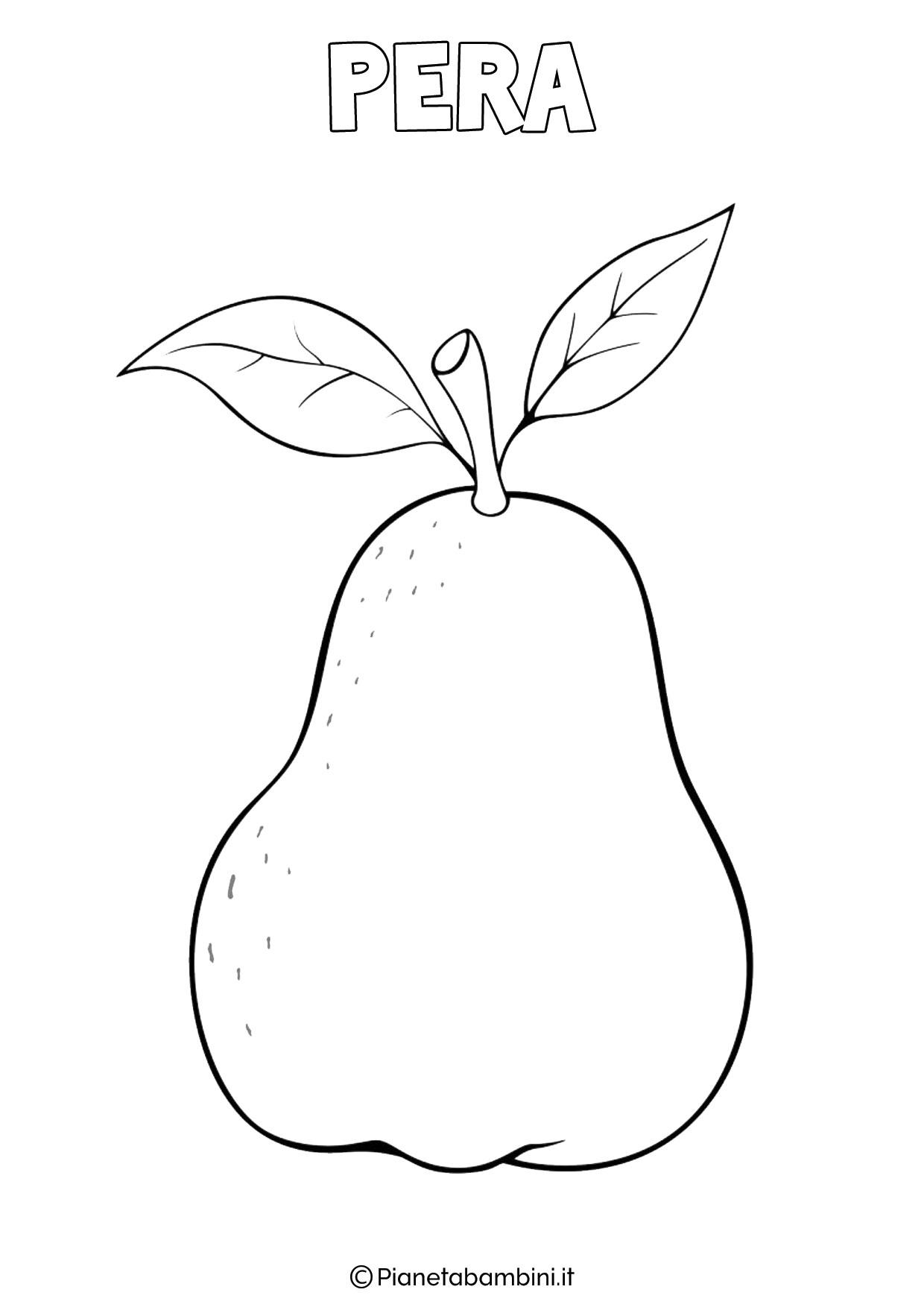 Disegno di pera da colorare