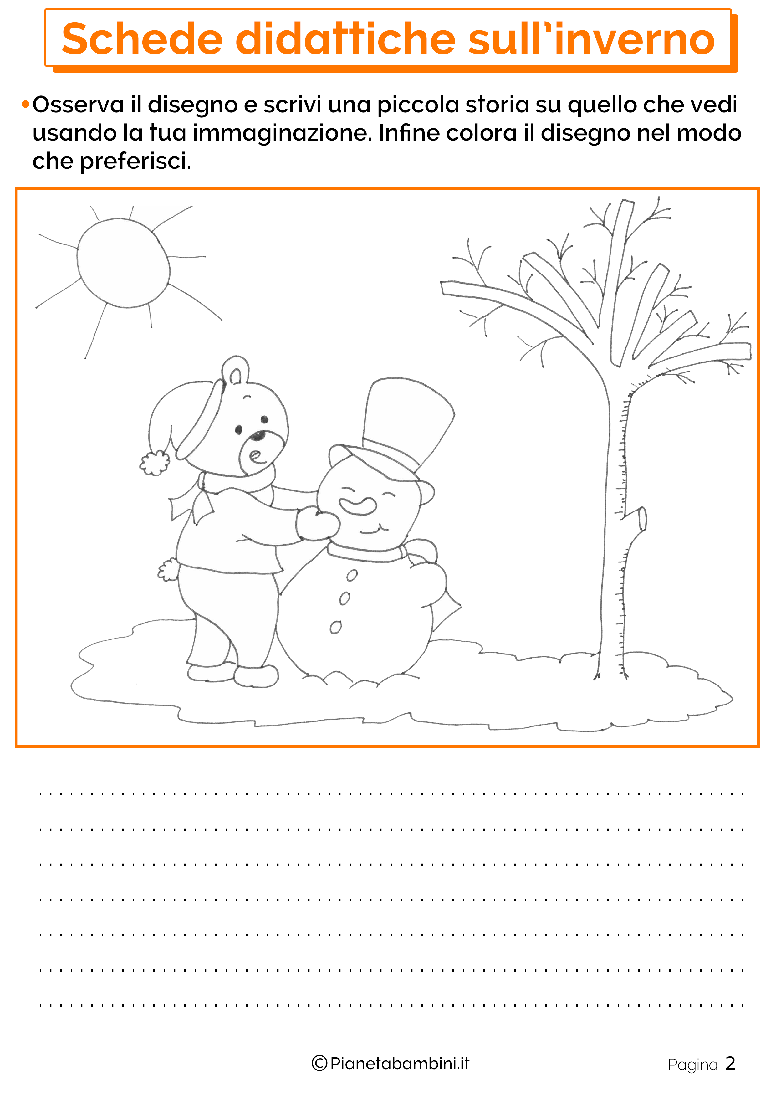 Esercizi sull'inverno per la scuola primaria 2