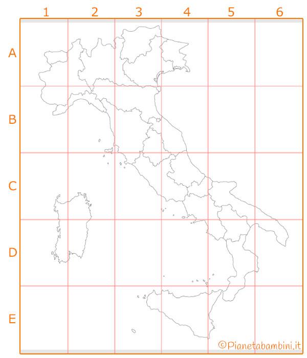 Cartina murale dell'Italia da stampare e costruire