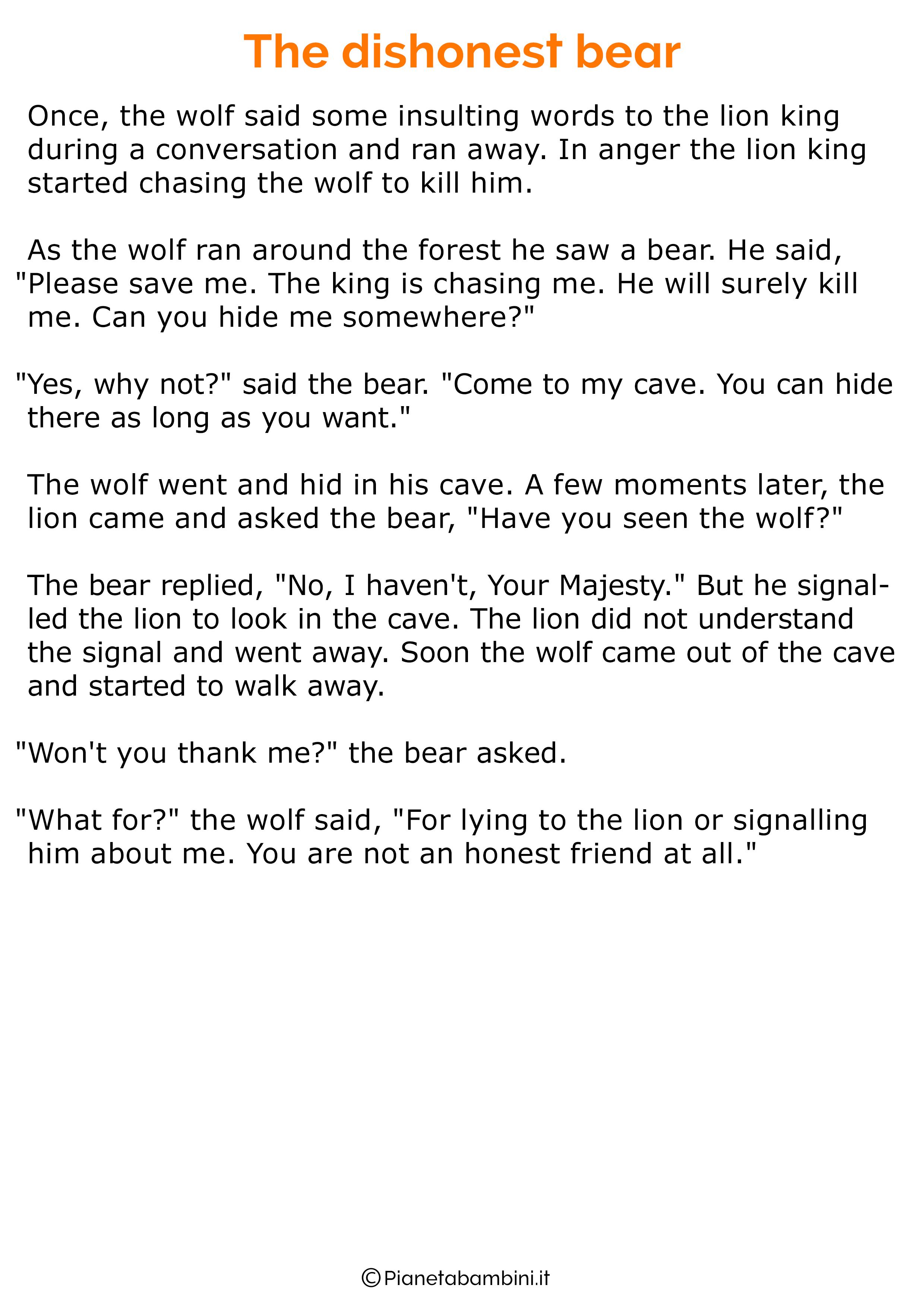 Favola in inglese per bambini 28