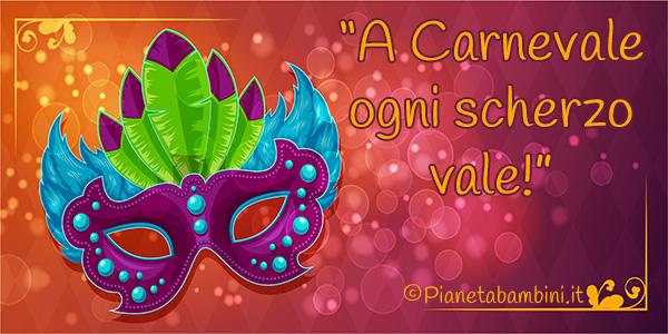 Pensierini sul Carnevale da stampare o leggere online per bambini