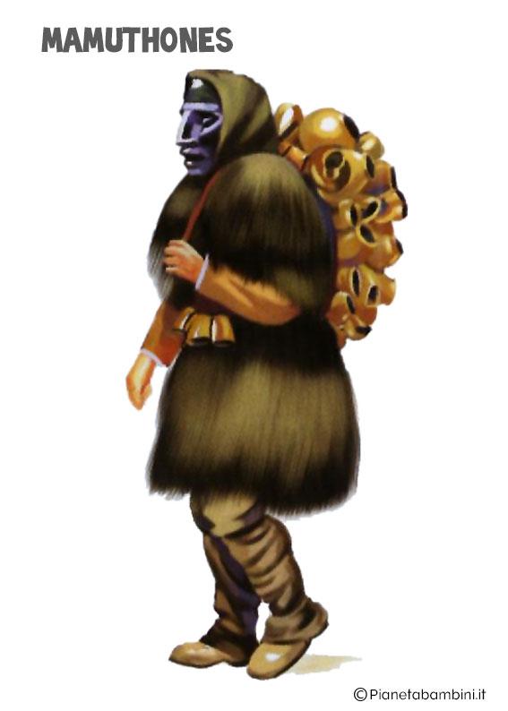Maschera Mamuthones del Carnavale sardo