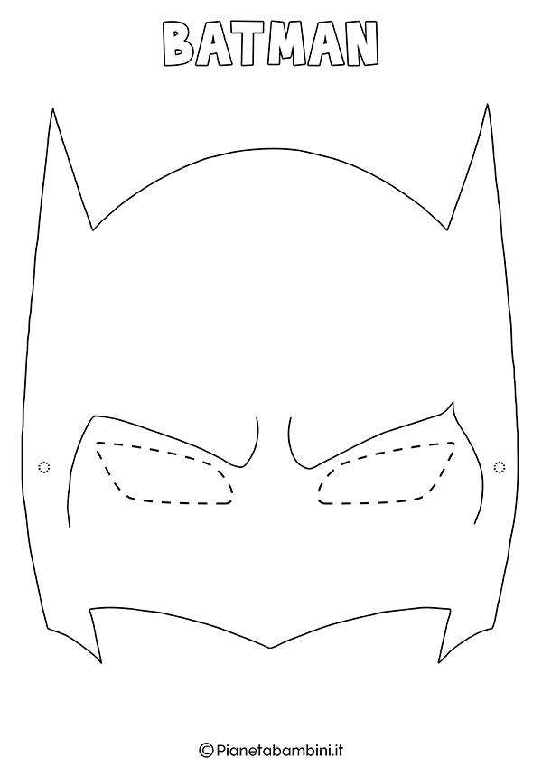 Maschera di Batman da colorare da stampare gratis per bambini