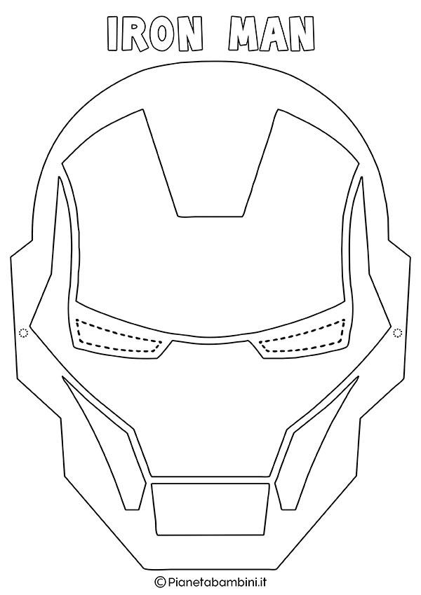 Maschera di Iron Man da colorare e stampare gratis per bambini