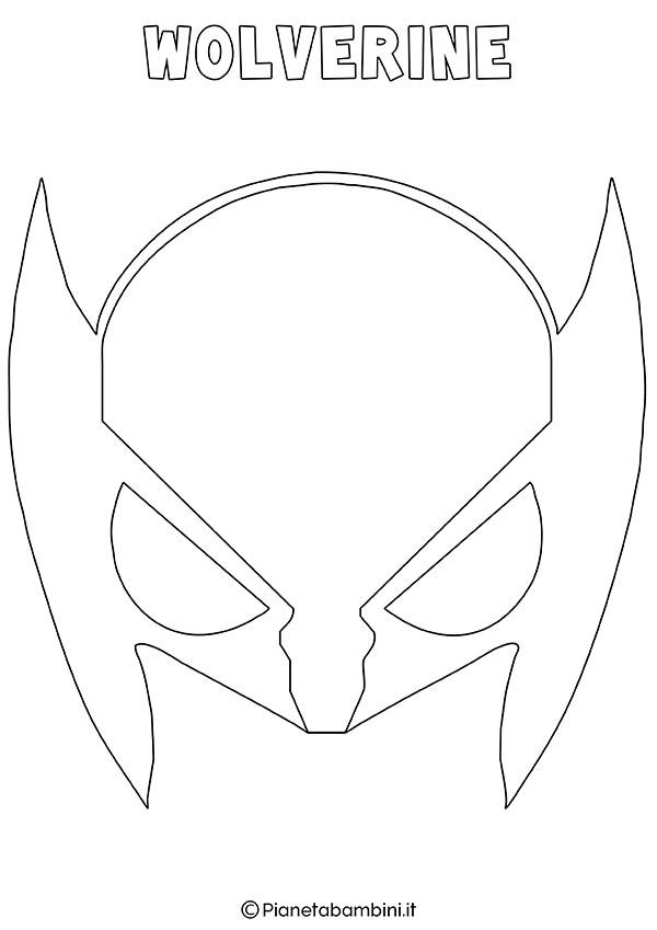 Maschera di Wolverine da colorare e stampare gratis per bambini