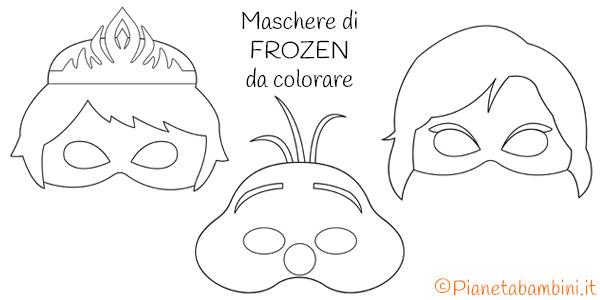 Maschere di Frozen da stampare gratis e colorare per bambini