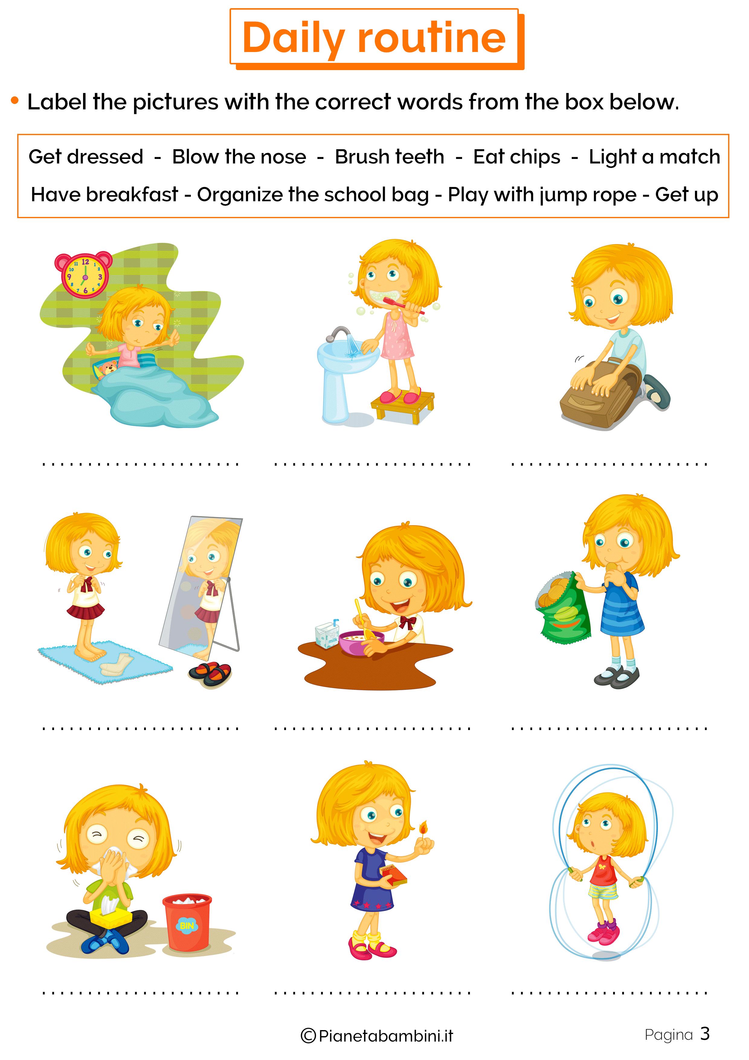 Esercizio fisico in inglese