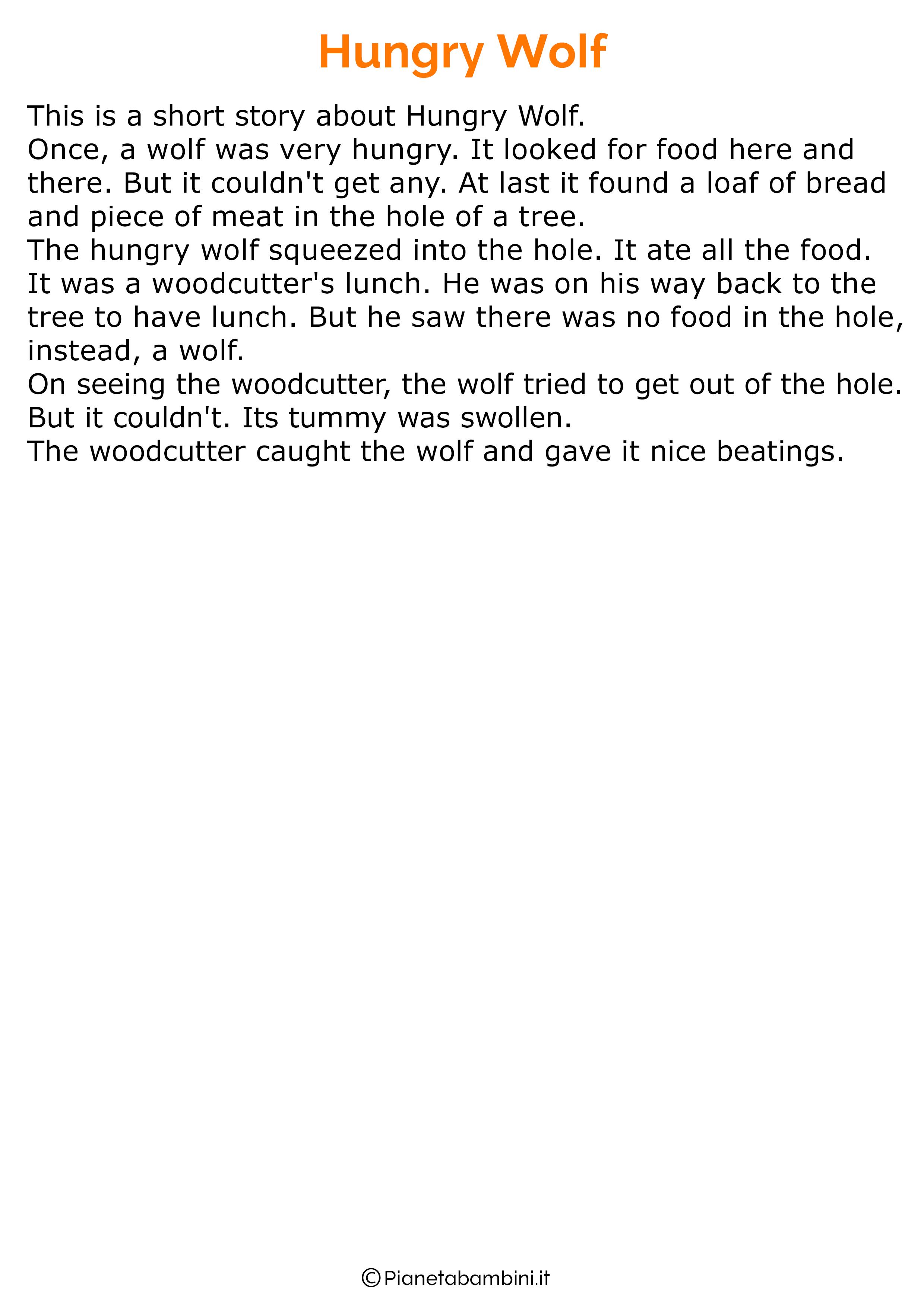 Racconto in inglese sugli animali 04