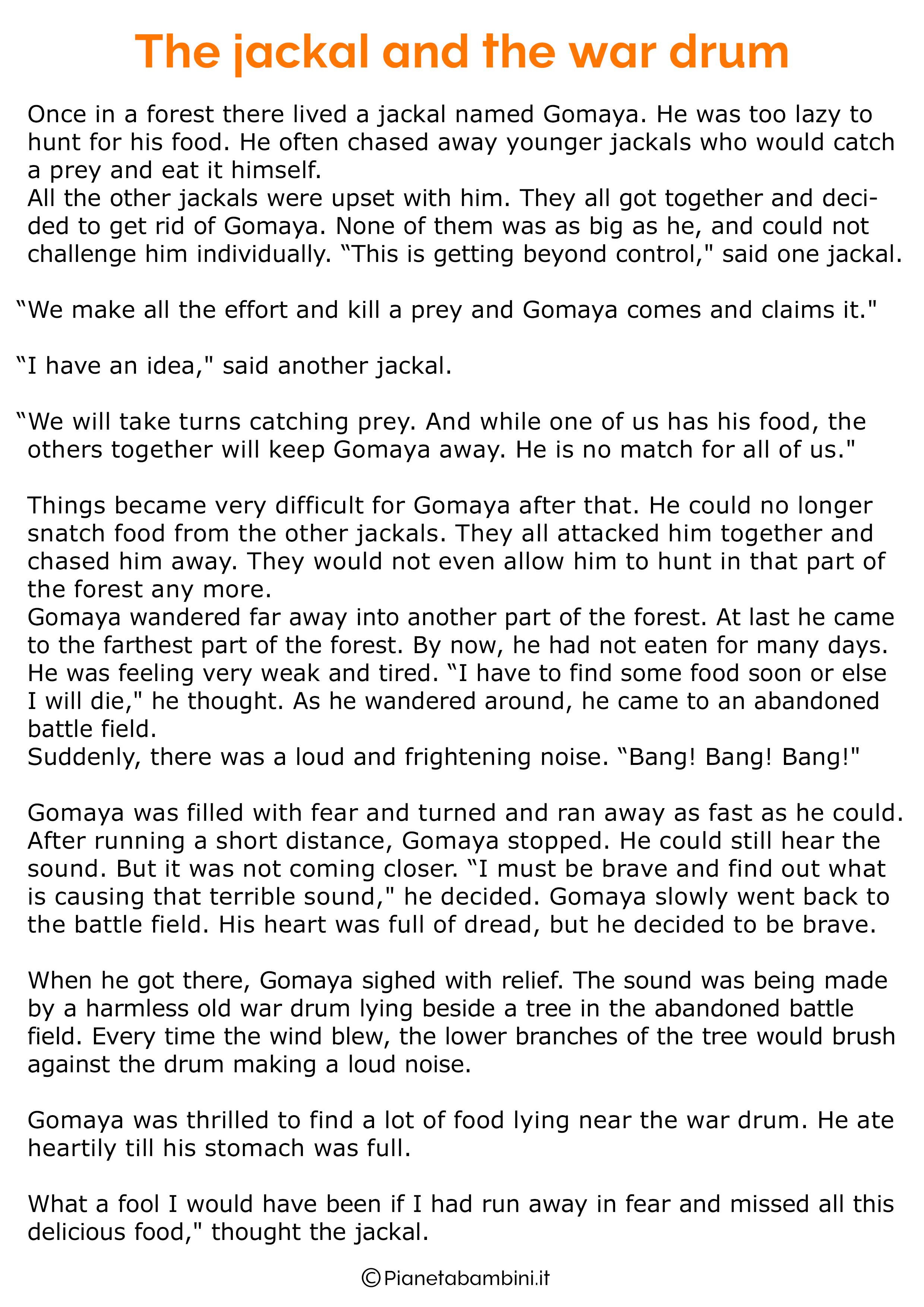 Racconto in inglese sugli animali 11