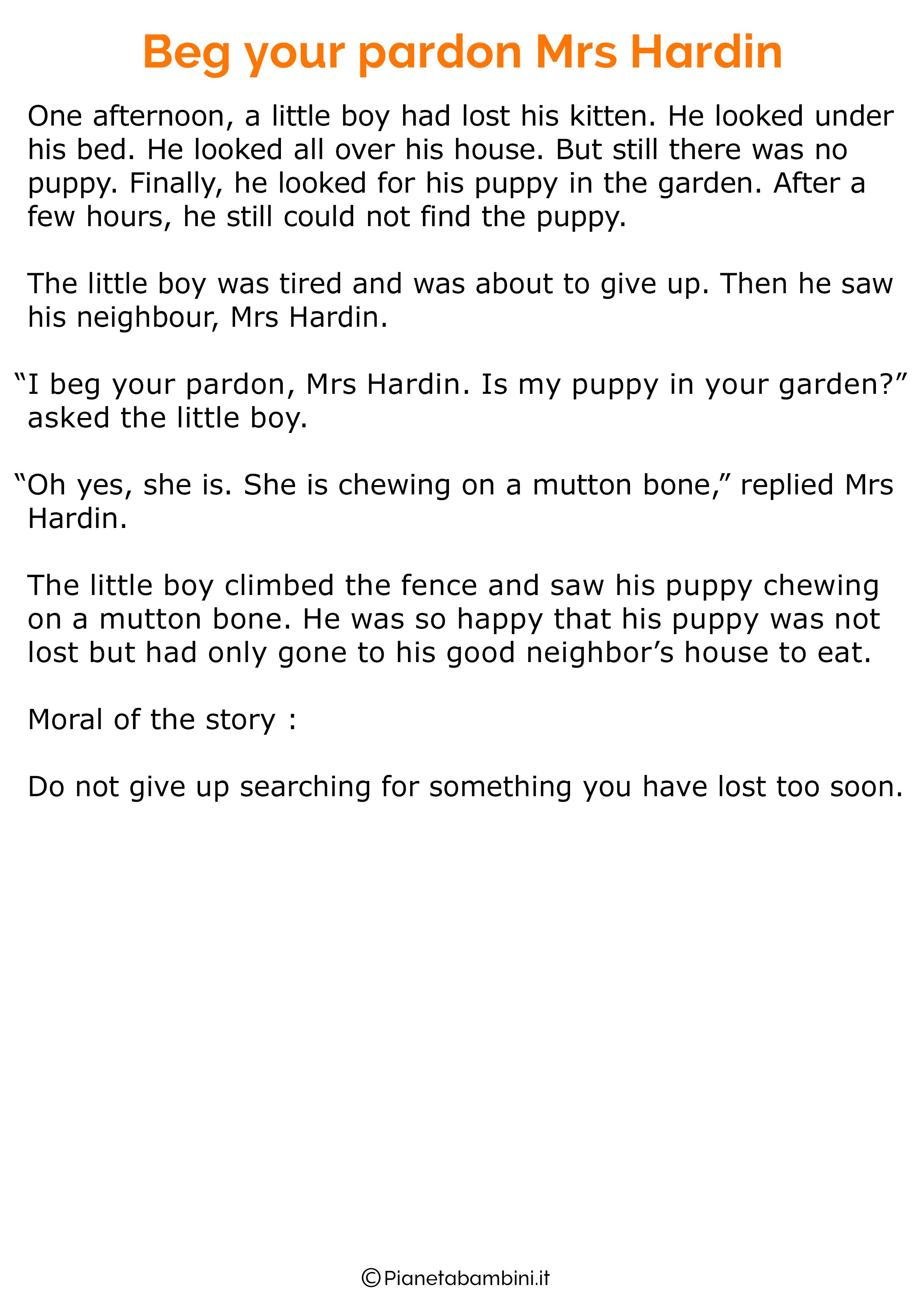 Racconto in inglese con la morale 03