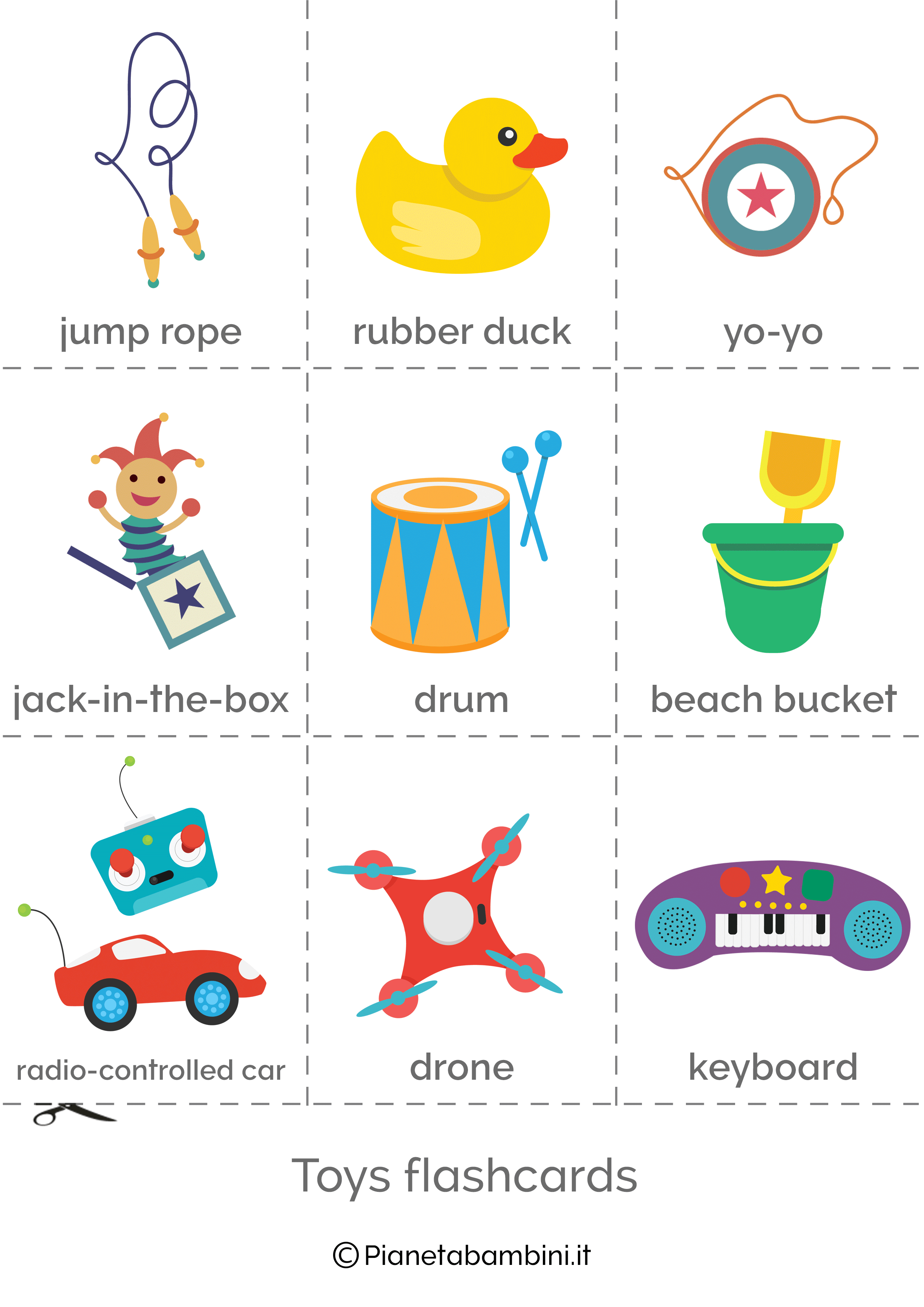 Flashcard Giocattoli Inglese per bambini 3
