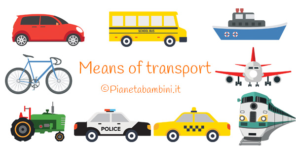 Esercizi sui mezzi di trasporto in inglese per la scuola primaria