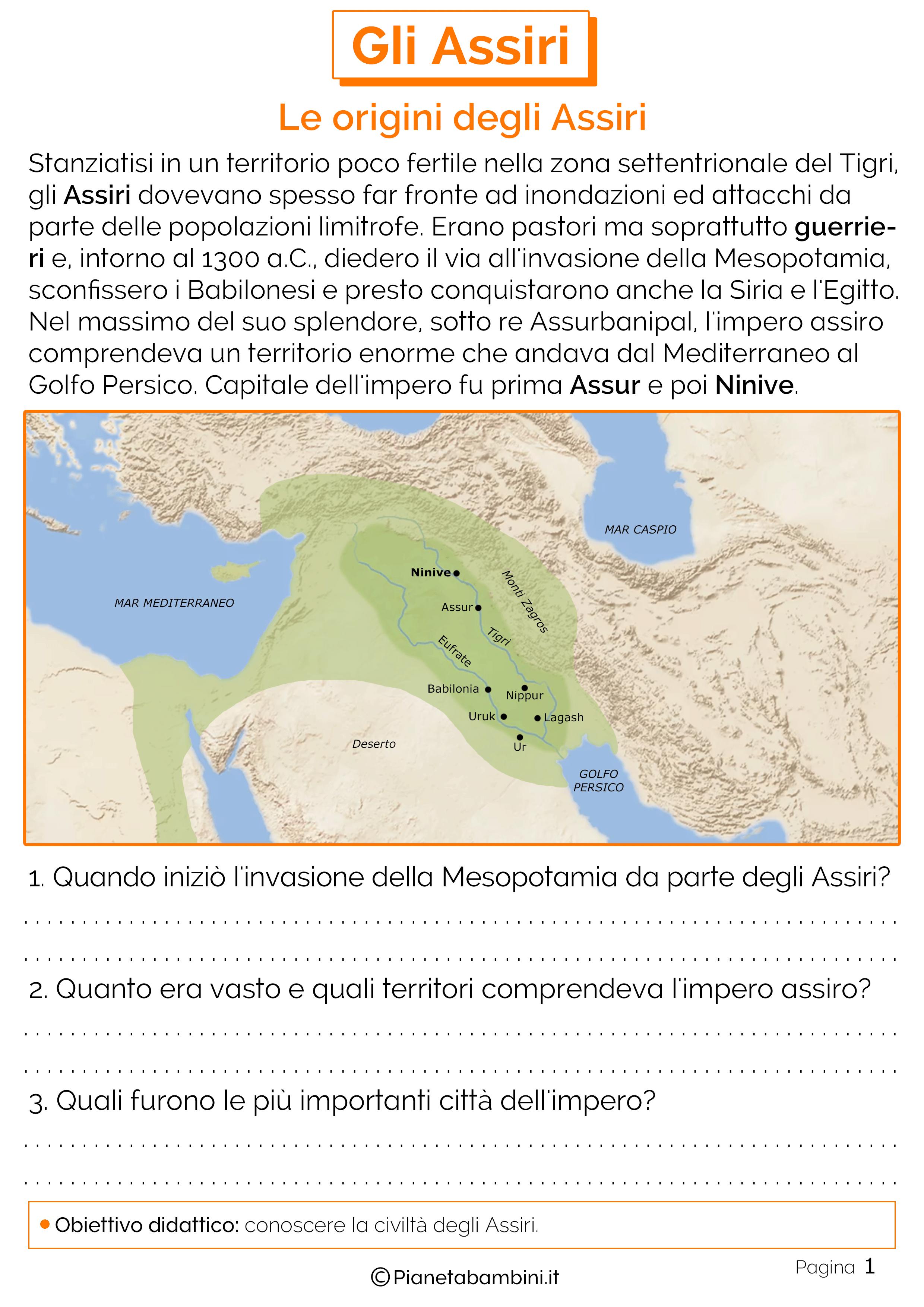 Le origini degli Assiri