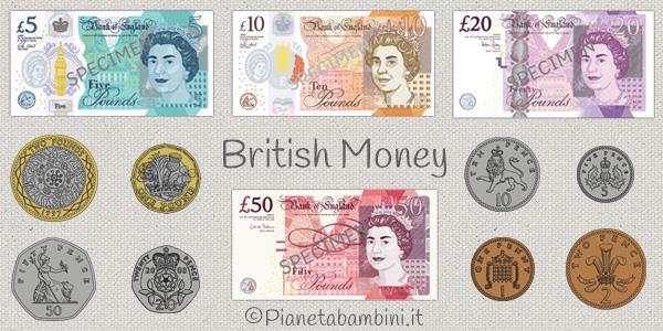 Esercizi sul sistema monetario inglese per la scuola primaria