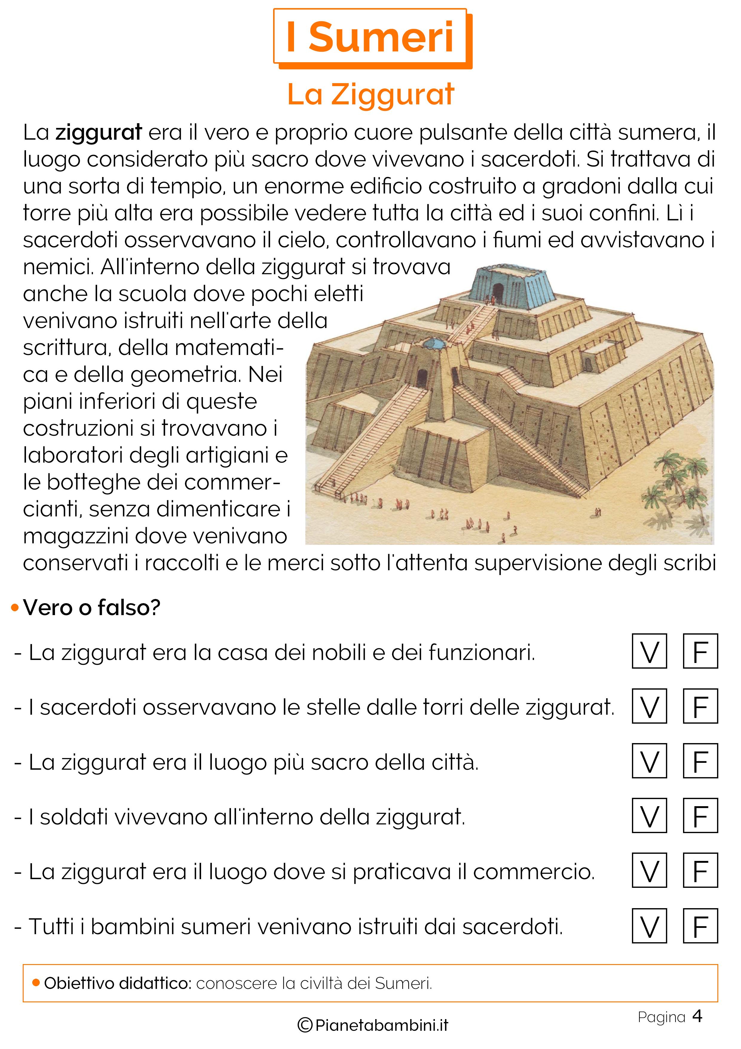 Schede didattiche sulla ziggurat