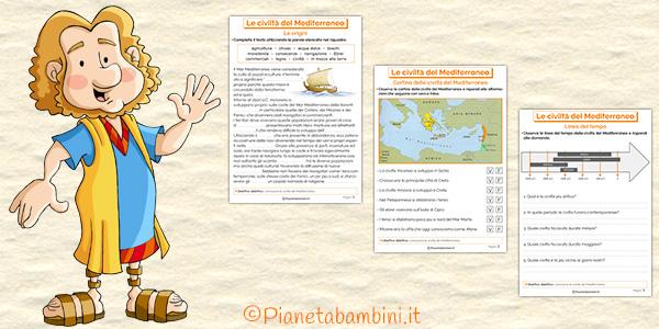 Schede didattiche sulle civiltà del mediterraneo per la scuola primaria