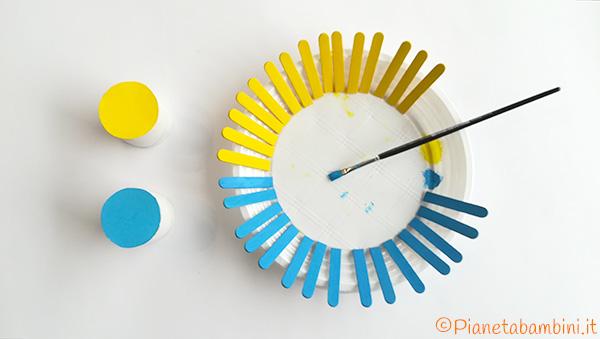 Come colorare bastoncini e rotolo per creare dei cestini pasquali