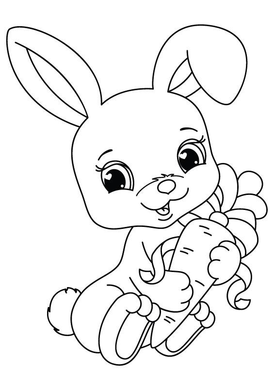 Disegni Conigli Da Colorare.45 Disegni Di Conigli Da Colorare Pianetabambini It