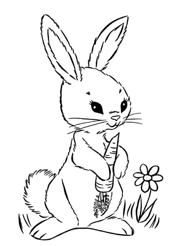 Disegni di conigli cartoon da colorare 15