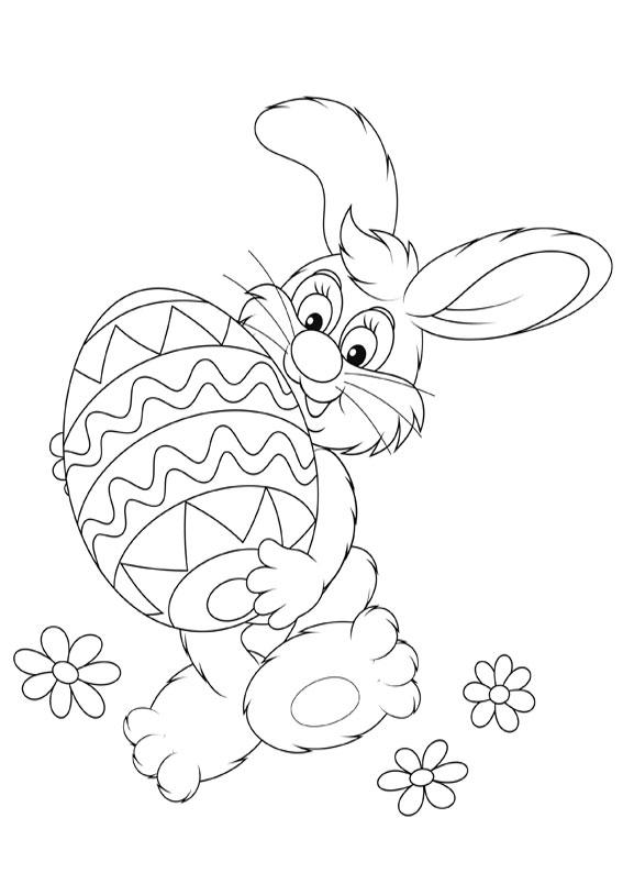 Disegni di coniglietti Pasquali da colorare 04