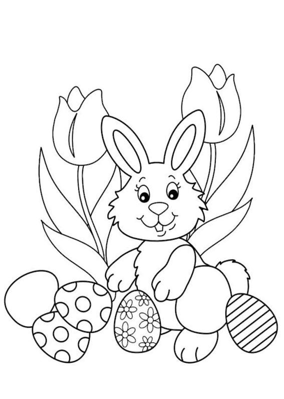 96 disegni di pasqua da colorare - Disegni di coniglietti per bambini ...
