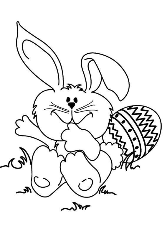 Disegni di coniglietti Pasquali da colorare 10